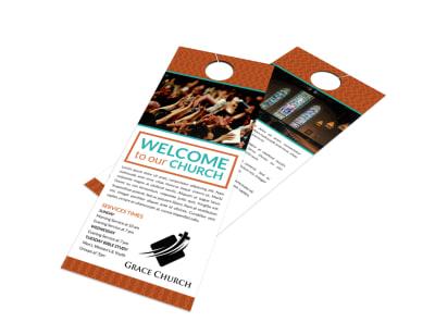 Church Welcome Door Hanger Template aahtldfml8 preview
