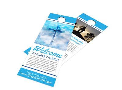 Church Welcome Door Hanger Template ecud3uj4kc preview