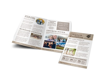 Church Bulletins Bi-Fold Brochure Template 20l9pd88gq preview