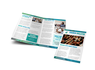 Church Bulletins Bi-Fold Brochure Template 5ua2i8ky6n preview