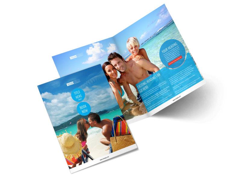 Ocean Beach Resort Bi-Fold Brochure Template 2