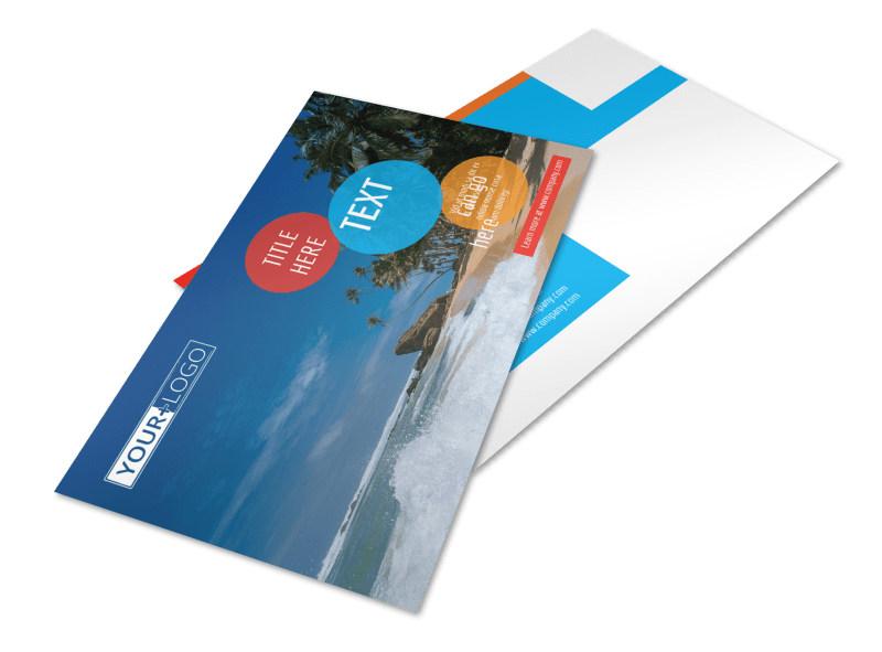 Ocean Beach Resort Postcard Template 2