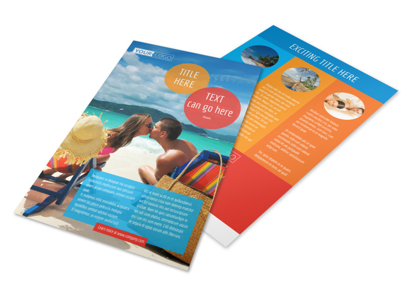 Ocean Beach Resort Flyer Template 3