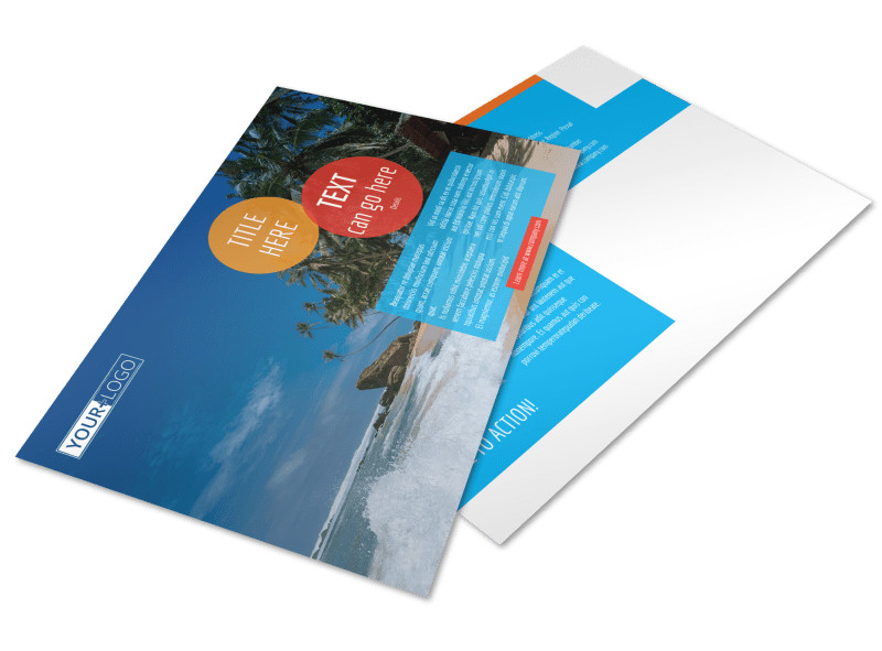 Ocean Beach Resort Postcard Template Preview 4