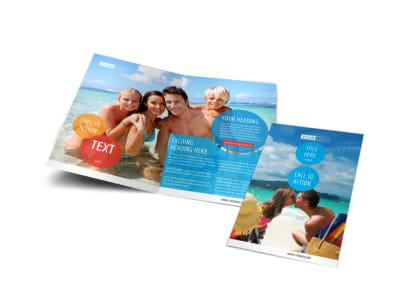 Ocean Beach Resort Bi-Fold Brochure Template