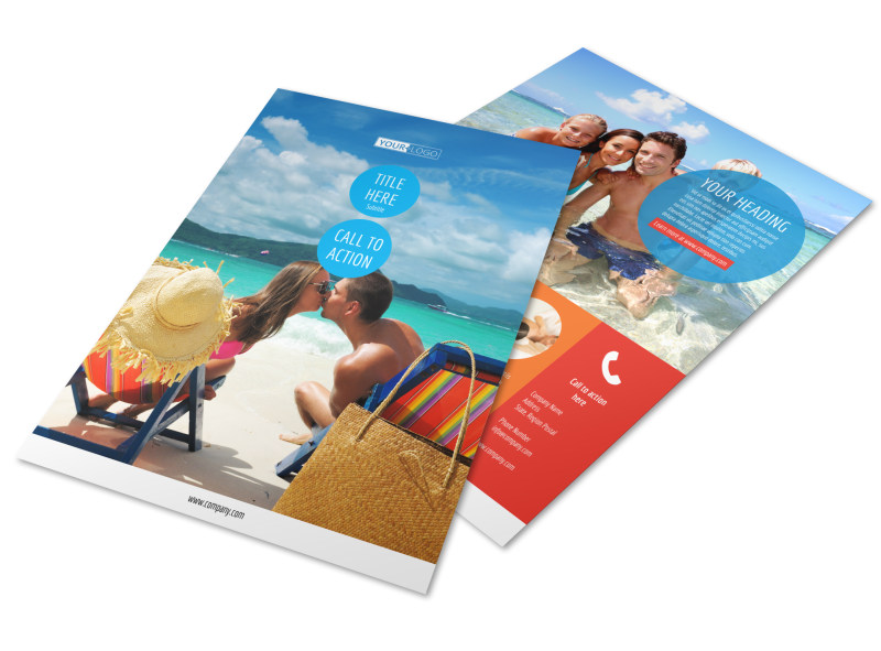Ocean Beach Resort Flyer Template