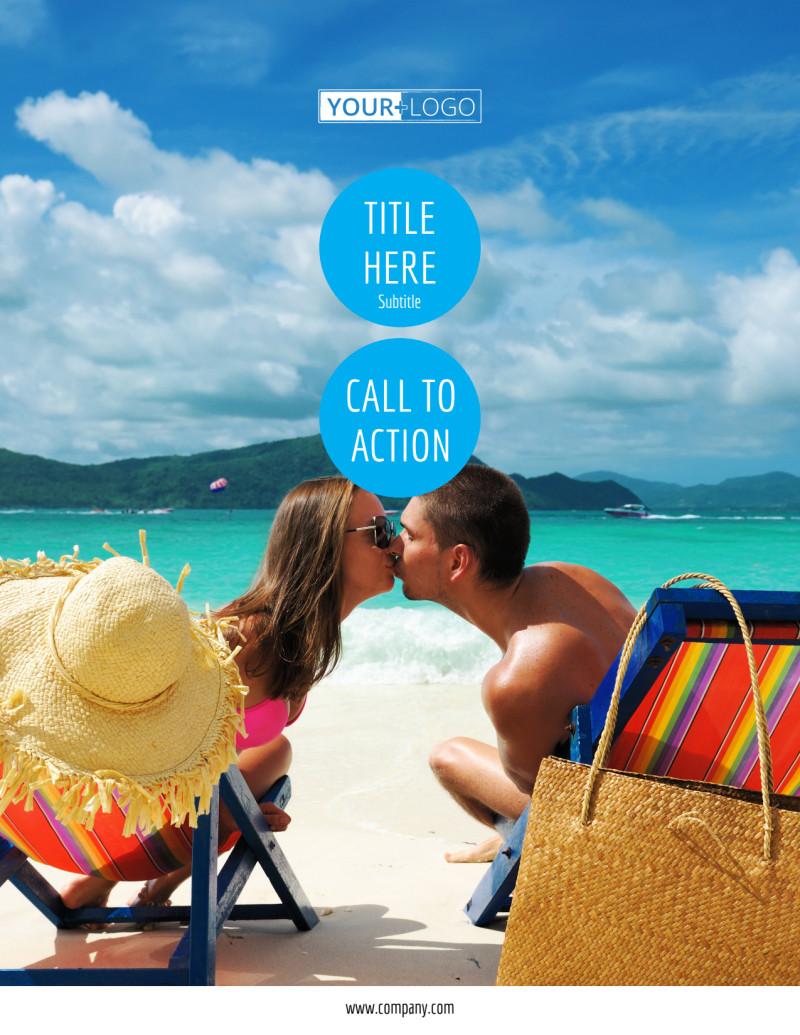 Ocean Beach Resort Flyer Template Preview 2
