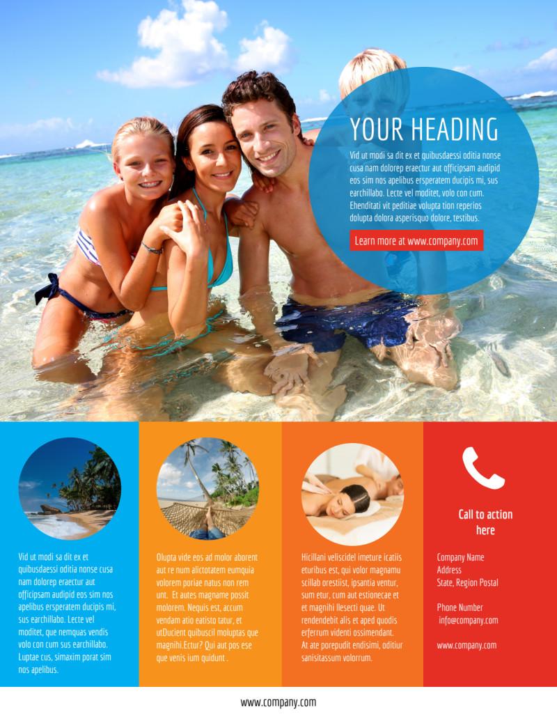 Ocean Beach Resort Flyer Template Preview 3