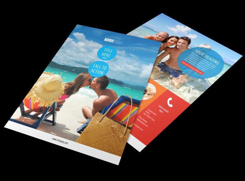 Ocean Beach Resort Flyer Template Preview 1