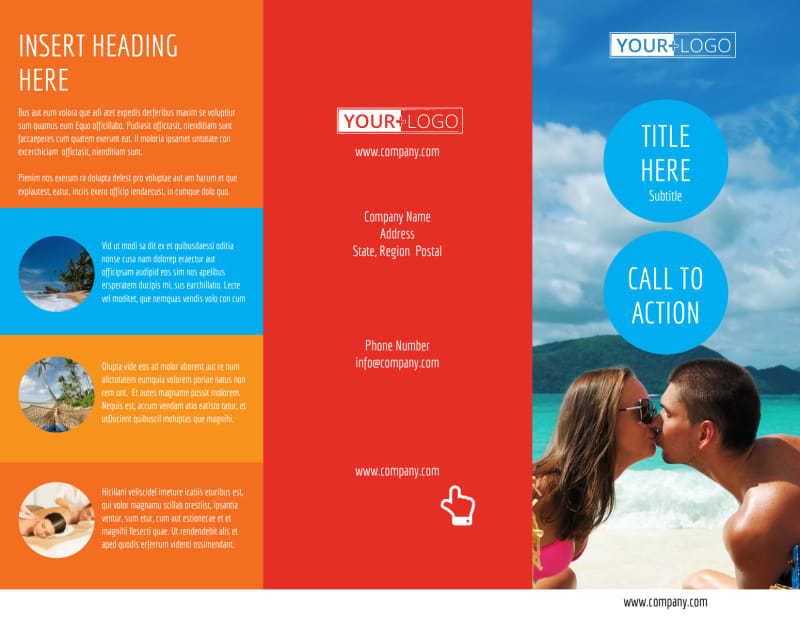 Ocean Beach Resort Brochure Template Preview 2