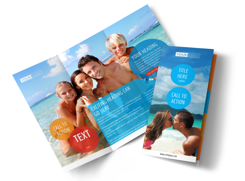 Ocean Beach Resort Brochure Template Preview 1