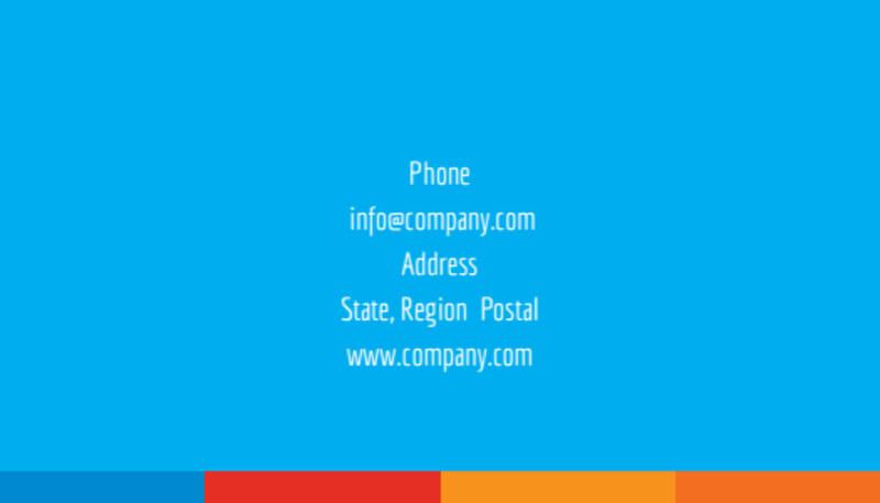 Ocean Beach Resort Business Card Template Preview 3