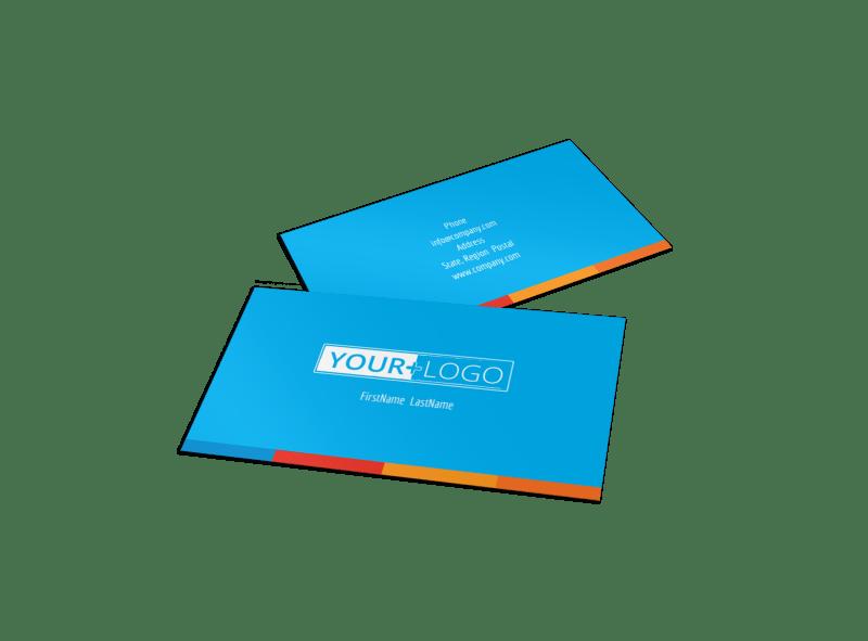 Ocean Beach Resort Business Card Template Preview 1