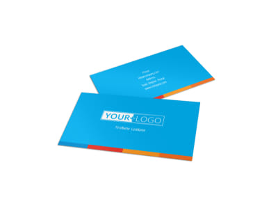 Ocean Beach Resort Business Card Template preview
