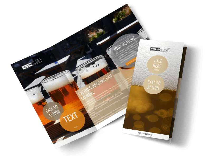 Downtown Brewery Tri-Fold Brochure Template