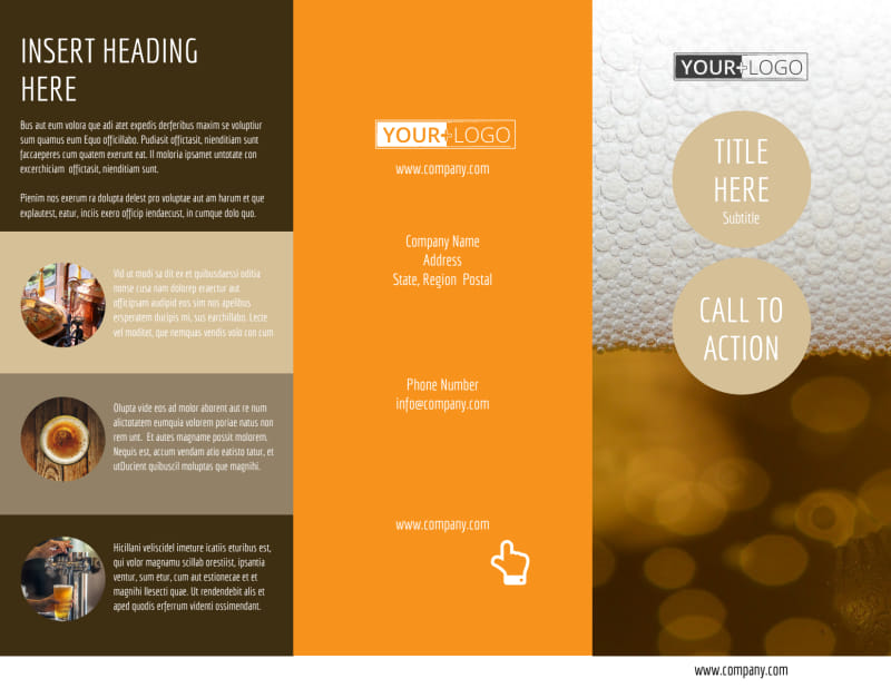 Downtown Brewery Brochure Template Preview 2