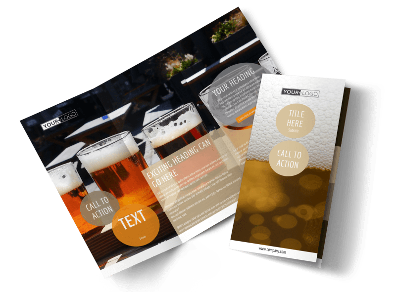 Downtown Brewery Brochure Template Preview 1