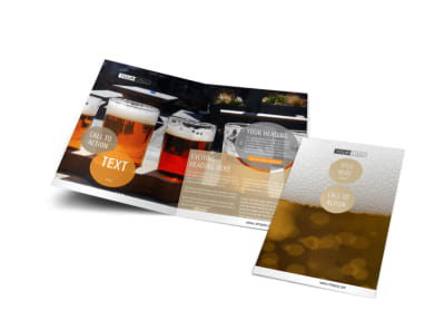 Downtown Brewery Bi-Fold Brochure Template