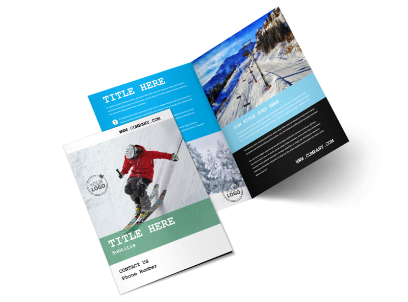 Fresh Powder Ski Resort Bi-Fold Brochure Template 2
