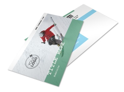 Fresh Powder Ski Resort Postcard Template 2 preview