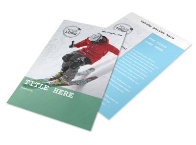 Fresh Powder Ski Resort Flyer Template 3