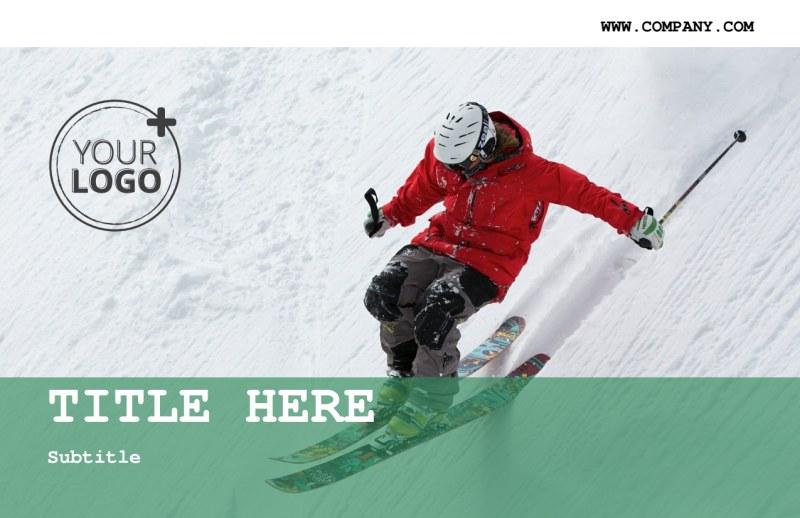 Fresh Powder Ski Resort Postcard Template Preview 2