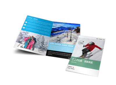 Fresh Powder Ski Resort Bi-Fold Brochure Template