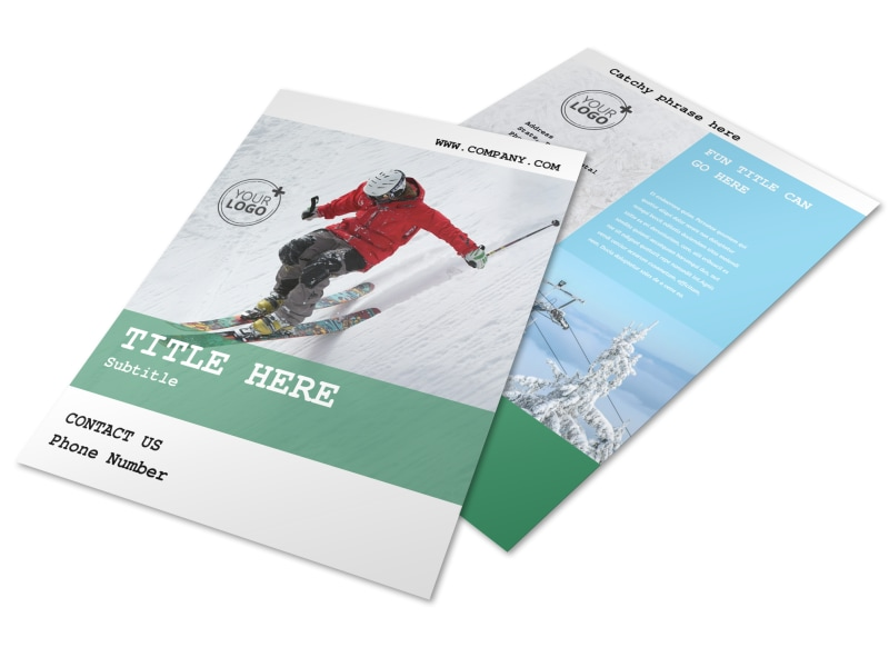 Fresh Powder Ski Resort Flyer Template