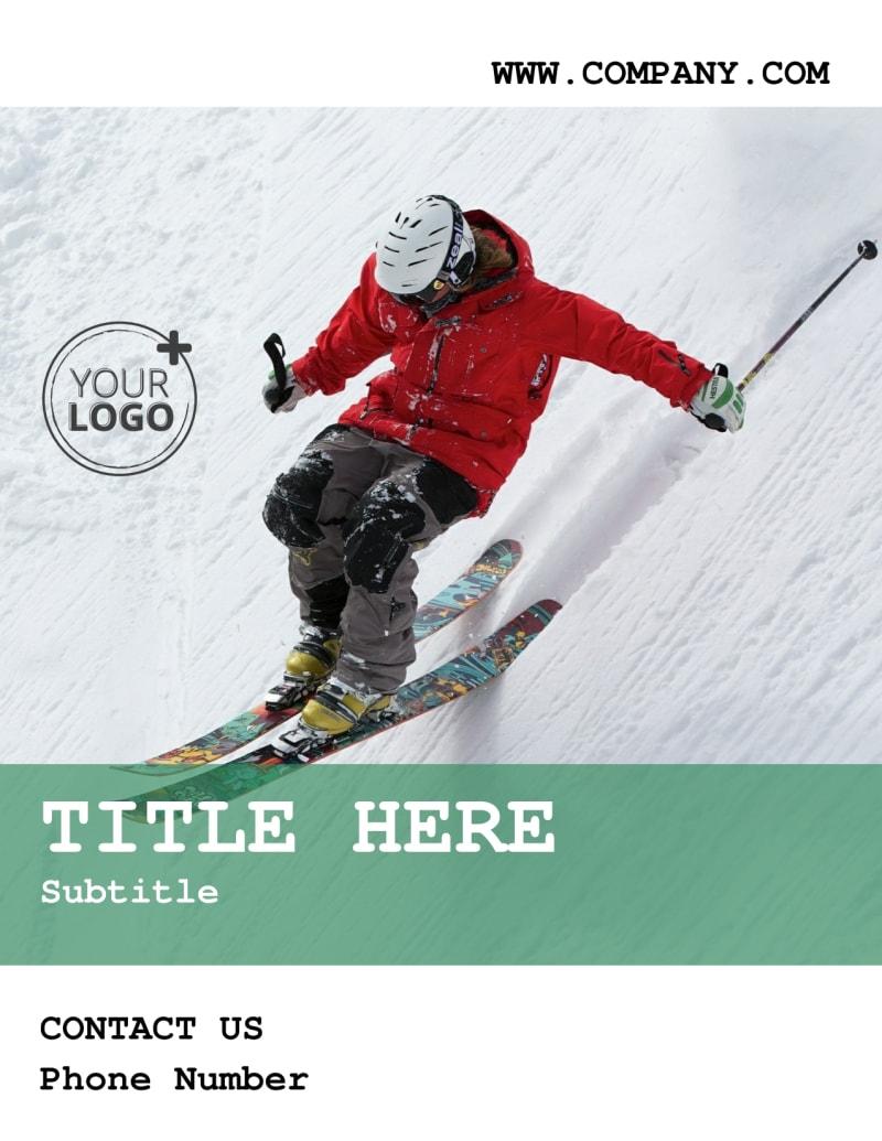 Fresh Powder Ski Resort Flyer Template Preview 2