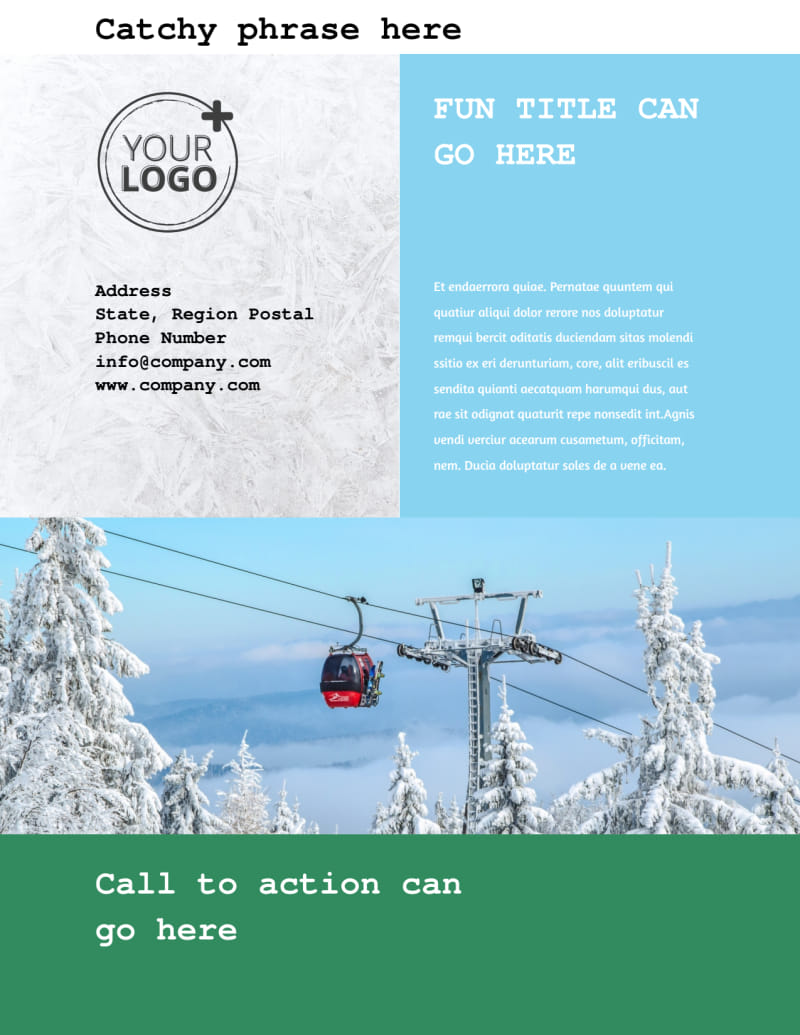 Fresh Powder Ski Resort Flyer Template Preview 3