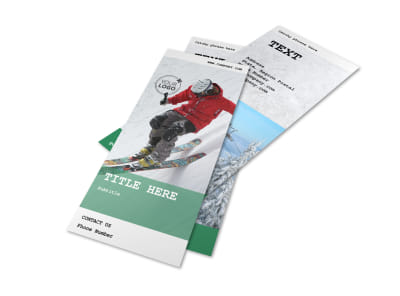 Fresh Powder Ski Resort Flyer Template 2