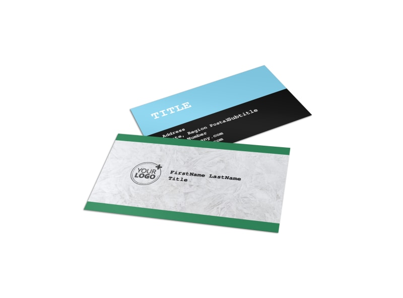 Fresh Powder Ski Resort Business Card Template