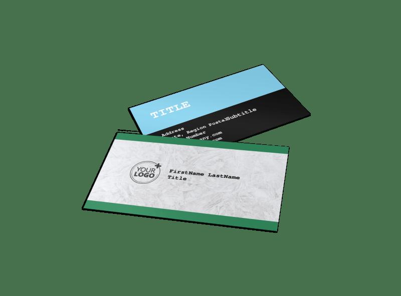 Fresh Powder Ski Resort Business Card Template Preview 1