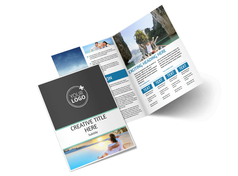 Tourism Activities Bi-Fold Brochure Template 2