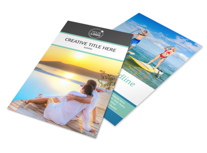 Tourism Activities Flyer Template 3