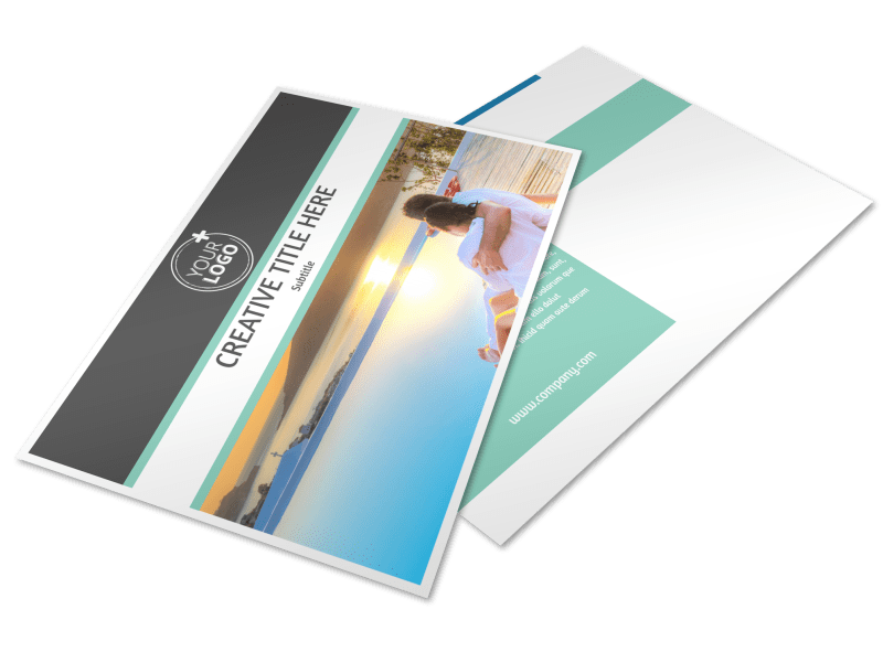 Tourism Activities Postcard Template Preview 1