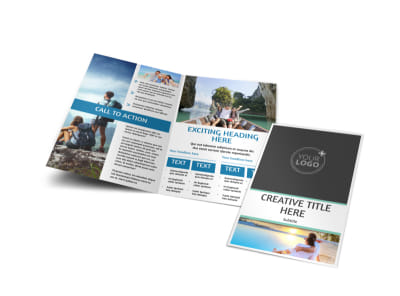 Tourism Activities Bi-Fold Brochure Template