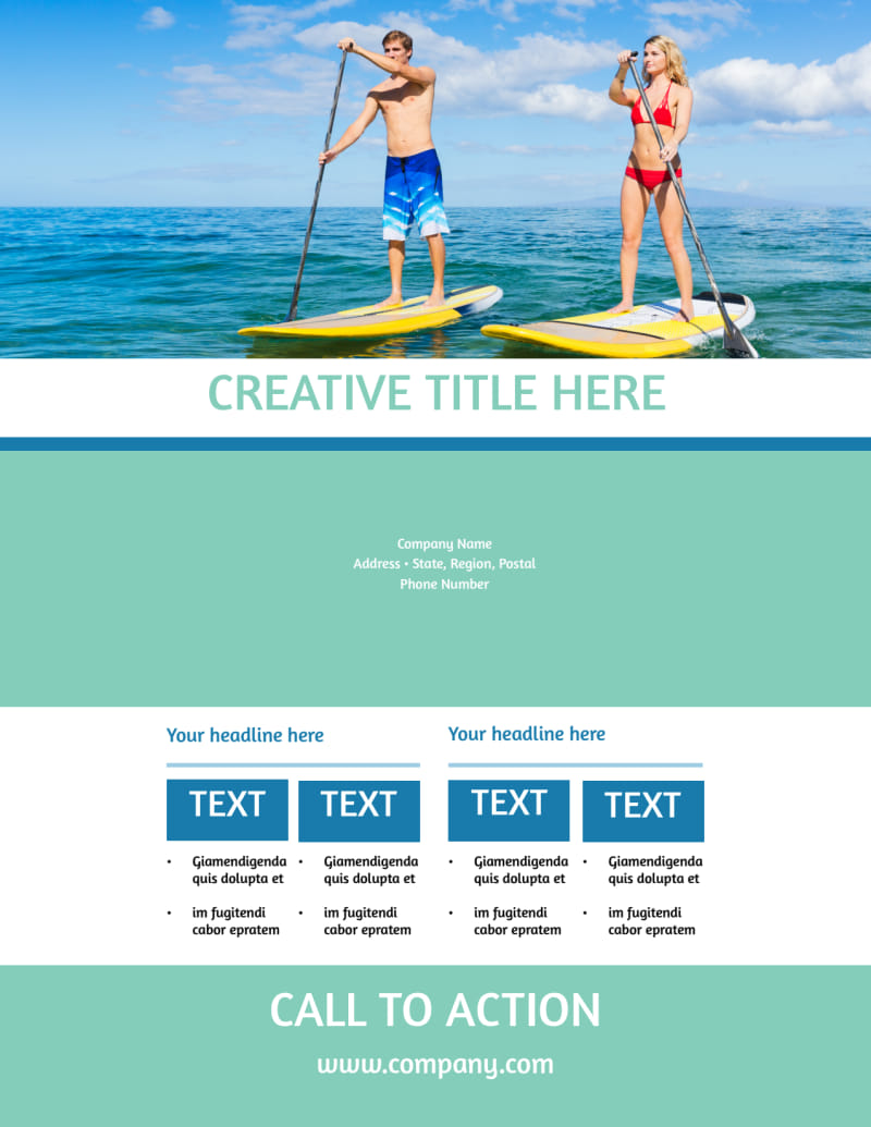 Tourism Activities Flyer Template Preview 3