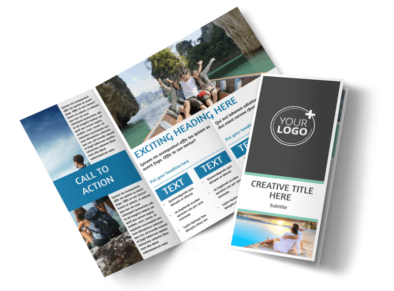 Tourism Activities Tri-Fold Brochure Template