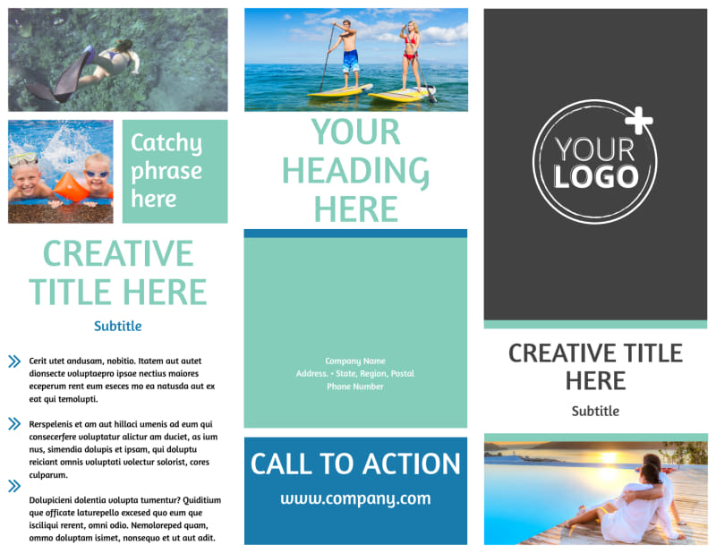 Tourism Activities Brochure Template Preview 2