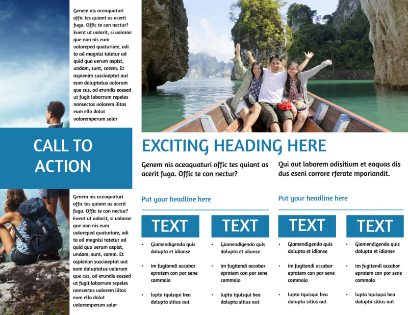 Tourism Activities Brochure Template Preview 3