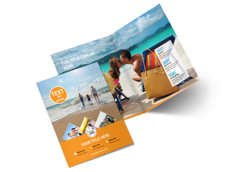 Sunny Travel Bi-Fold Brochure Template 2
