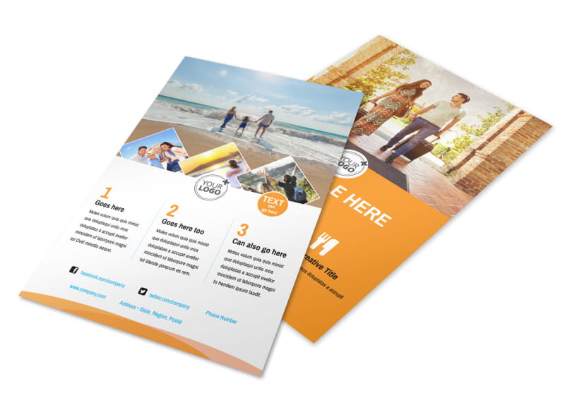 Sunny Travel Flyer Template 3
