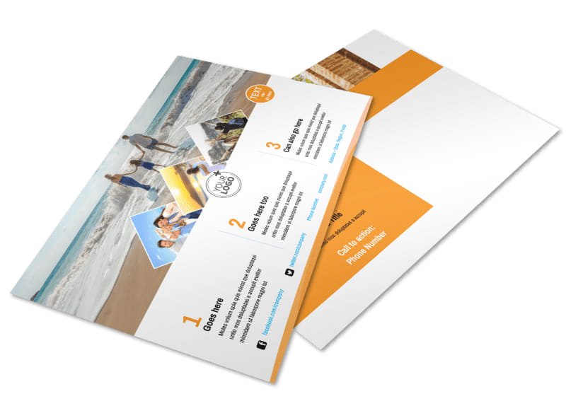 Sunny Travel Postcard Template Preview 4