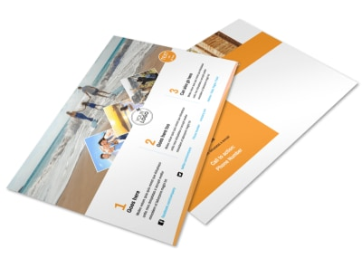 Sunny Travel Postcard Template preview