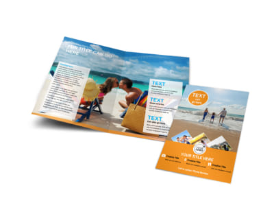Sunny Travel Bi-Fold Brochure Template preview