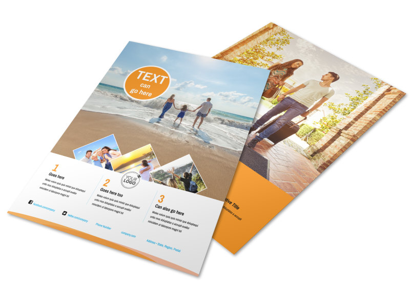 Sunny Travel Brochure Template | Mycreativeshop