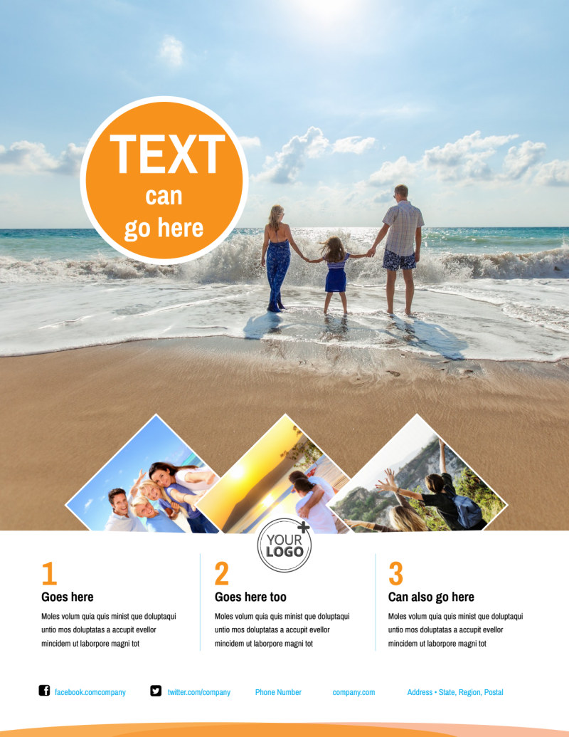 Sunny Travel Flyer Template Preview 2