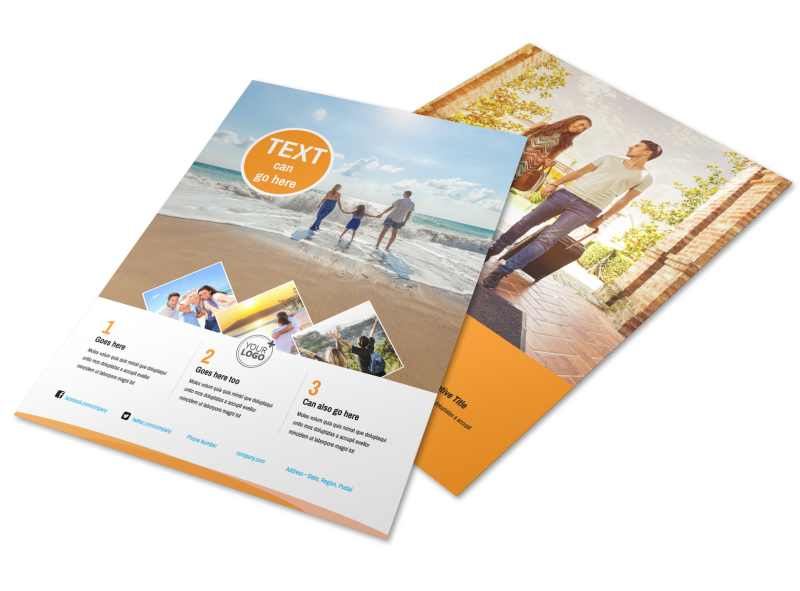 Sunny Travel Flyer Template Preview 1