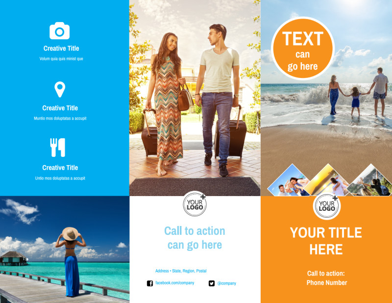 Sunny Travel Brochure Template Preview 2